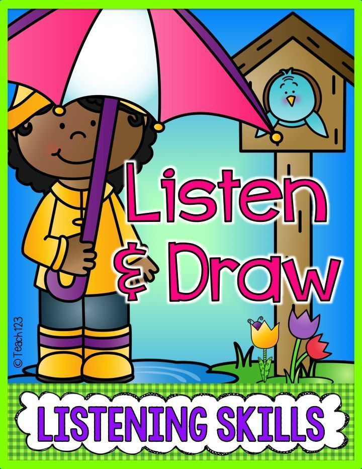 Listen & Draw Spring, Earth Day, Easter, Weather and
