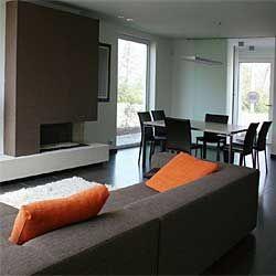 Afbeeldingsresultaat voor interieur oranje grijs
