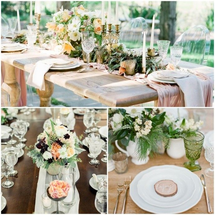 Decoration De Table Mariage Nature Chic