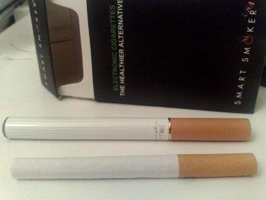 Compare a Tobacco cigarette and Electronic cigarette.