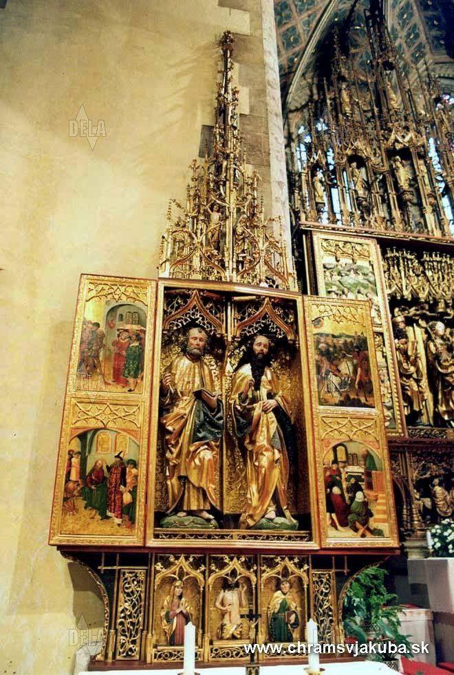 Chrám sv. Jakuba v Levoči - the largest wooden altar in the world - Altar of Master Paul in Levoča, Slovakia Eglise St-Jean dans la ville de Levoča , Slovaquie