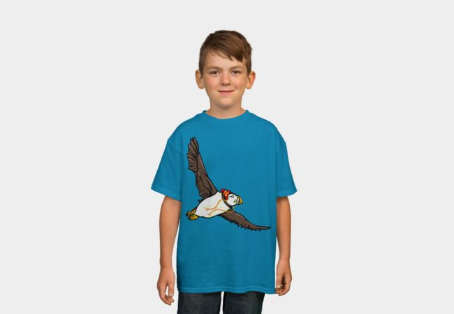 Puffin Keeping Warm T-Shirt - Design By Humans