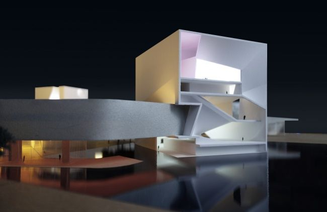 Steven Holl Architects Стивен Холл Центр культуры и искусства Китай. Циндао