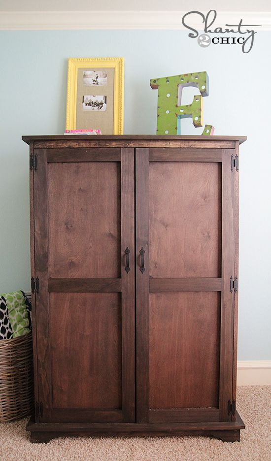 DIY Furniture: Pottery Barn Inspired Armoire - Free Plans!
