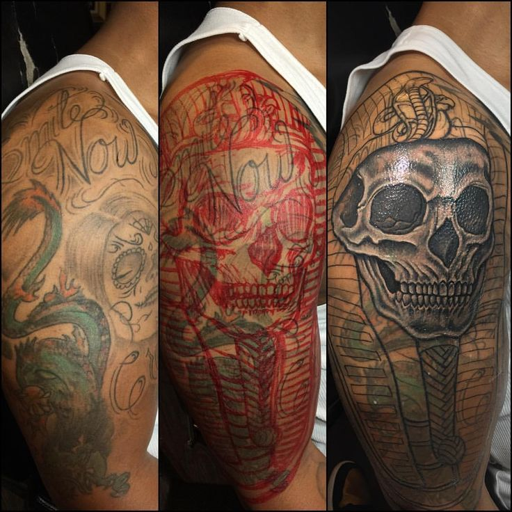 Cover up done by ryan henry owner of 9 mag chicago black for Chicago ink tattoo