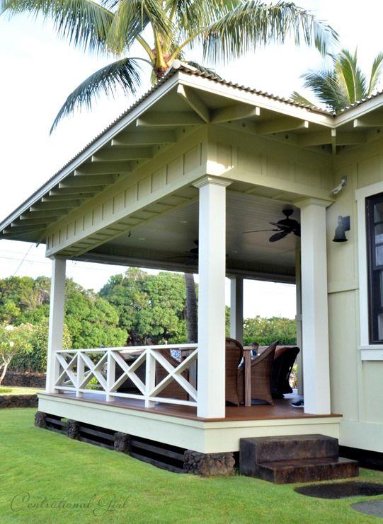 kauai beach cottage front porch - Porch Railing