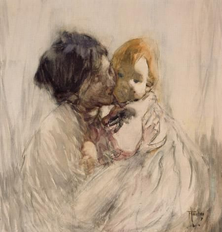 Frances Hodgkins, Woman and Child, c.1912. Collection of the Dunedin Public Art Gallery