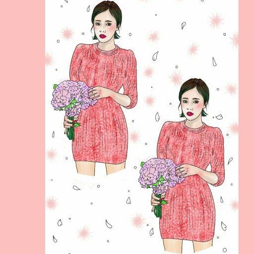 Http://blog.naver.com/sa_ranghae m.facebook.com/nanniyaa  #NanNi #난니 #그림그리는여자 #Art #아트 #그림 #수작업 #손그림 #illustration #illust #일러스트 #design #디자인 #sketch #스케치 #drawing #드로잉 #croquis #크로키 #artwork #love #gorgeous #bouquet