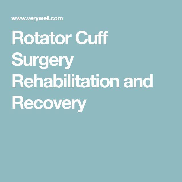 Rotator Cuff Surgery Rehabilitation and Recovery