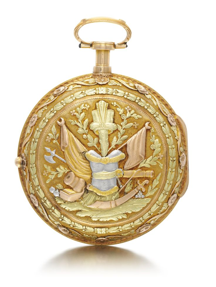 CARDINAUX A PARIS A TRI-COLOURED GOLD PAIR CASED QUARTER REPEATING CLOCK WATCH MADE FOR THE TURKISH MARKET CIRCA 1790