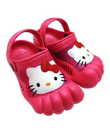 Another great find on #zulily! Pink Hello Kitty Clog #zulilyfinds
