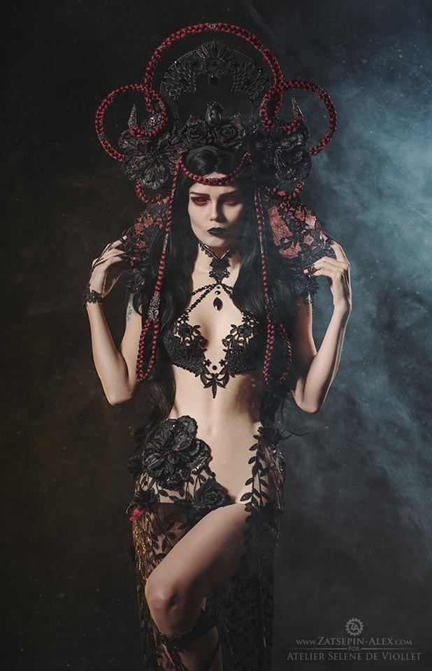 Model: Elisanth Photo by Zatsepin Alex Fashion: Atelier Selene de Viollet Lenses by Samhain Contact Lenses Welcome to Gothic and Amazing | www.gothicandamazing.com