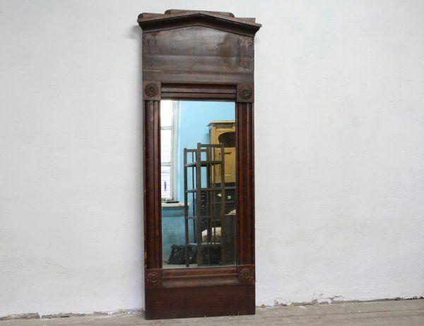 Старинное зеркало, красное дерево