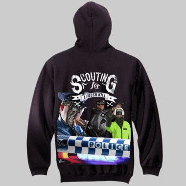Scouting For A Fresh Kill Pull-Over Hoodie $A70.00 Sizes: S-3XL Back & Front Print http://www.wildsteel.com.au/scouting-for-a-fresh-kill-hoodie/