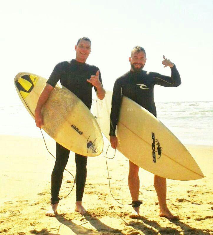 One times surfboard in the eye = good fun.