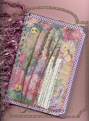 Read more about this Journal I made on my Lavendula Loveliness Blog.