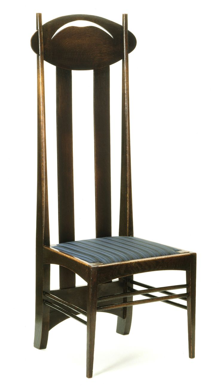Dining chair by Macintosh, made of oak with  upholstered sitting. Its a really big chair,suitable for spacious rooms like restaurants or massive dining rooms. This chair can add some distinction feature to interior.