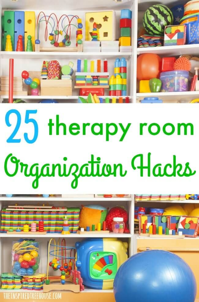 The Inspired Treehouse - Whether you're a school based therapist or you work in another setting, these ideas are great for keeping therapy materials and equipment neat and organized all year long!