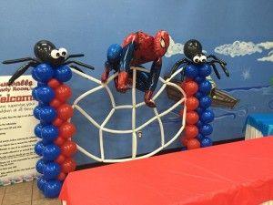 Gumballs - Spiderman Balloon Pillars