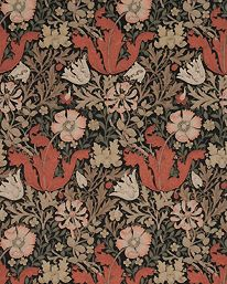 Compton Brown/Orange från William Morris & Co