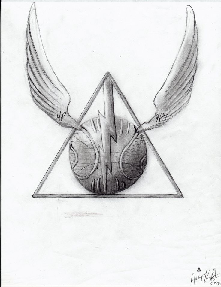 Harry Potter Deathly Hallows by ashleymd7.deviantart.com on @DeviantArt
