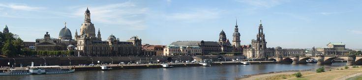 Dresden, Brühlsche Terrasse, Hofkirche, Semperoper von Günter Stöckel