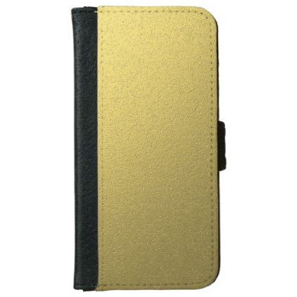 Gold Metallic Foil Effect iPhone 6/6s Wallet Case - metallic style stylish great personalize
