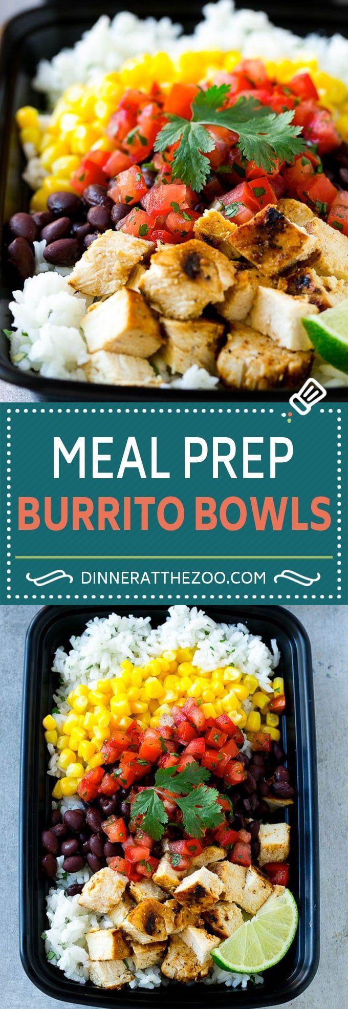 Meal Prep Burrito Bowls   Chicken Burrito Bowls   Meal Prep Recipe   Burrito Bowl Recipe