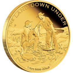 Australia Land Down Under – Gold Rush 2014 1/4oz Gold Coin