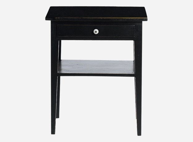 Table, Bazar, black, 50x35 cm, h.: 60 cm