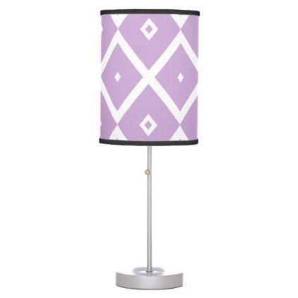 Abstract geometric pattern - purple. table lamp - pattern sample design template diy cyo customize