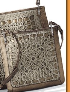 Brighton purse with hand crochet....