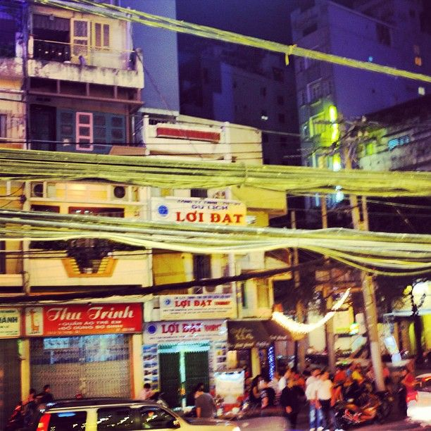 Saigon City, Vietnam. They have big problem on cabling and wiring.