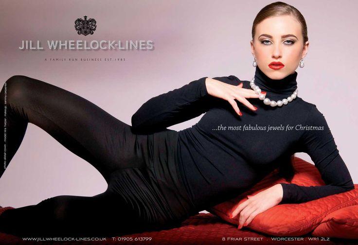 Photographed for Jill Wheeler-Lines Christmas advert.  Hair & Makeup: Sammy Carpenter.  Photography: Alistair Cowin