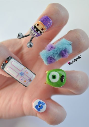 Monster's inc nails!