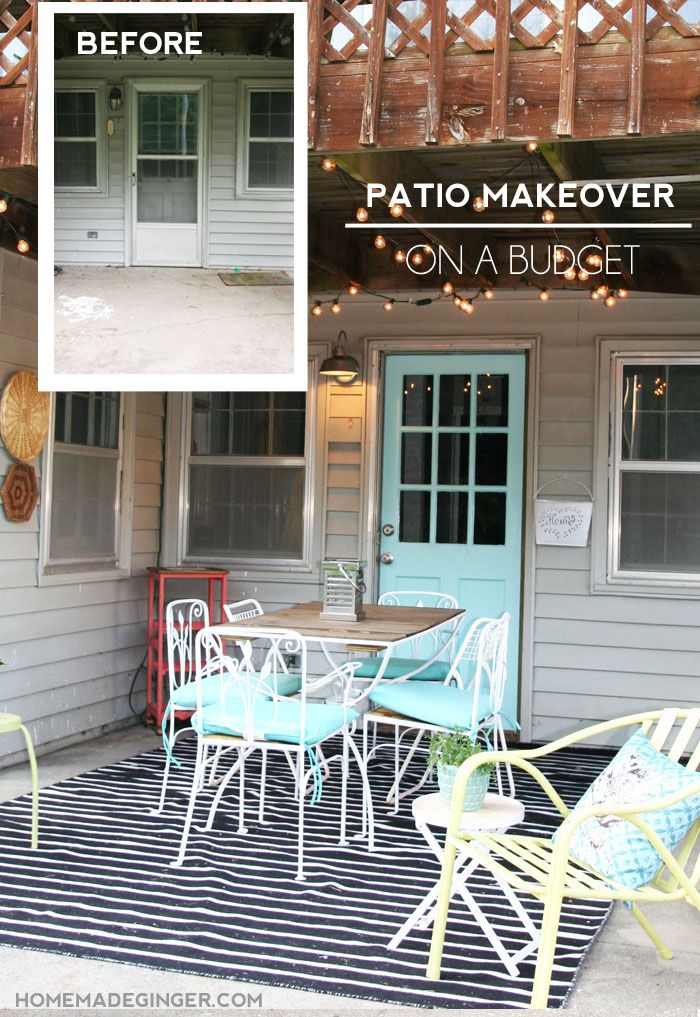 Patio Makeover On A Budget Easy Diy Thrift Stores And Patio
