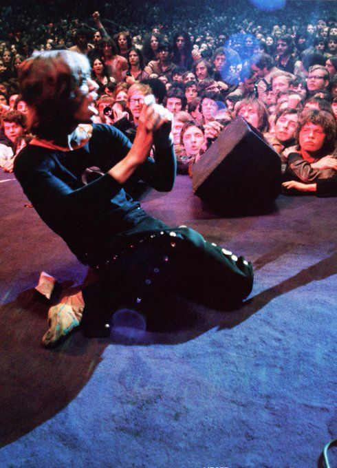 Mick Jagger live at Madison Square Garden during The Rolling Stones' 1969 American Tour. Ethan Russell.
