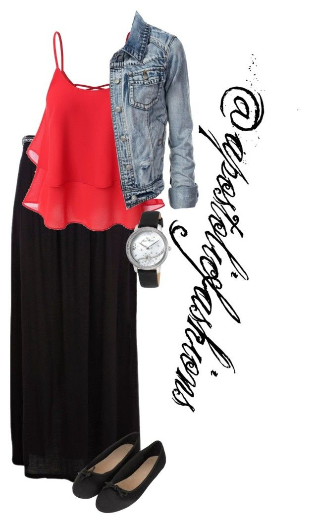 """""""Apostolic Fashions #1621"""" by apostolicfashions ❤ liked on Polyvore featuring River Island, Doublju, Topshop, Lucien Piccard, modestlykay and modestlywhit"""