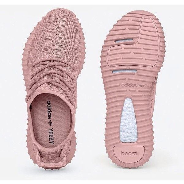 Yeezy Boost 350 All Pink Women Sneakers ❤ liked on Polyvore featuring shoes, sneakers, pink shoes and pink sneakers