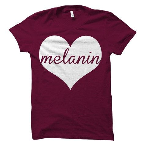 Melanin Love Natural Hair Tee T Shirt by KinkyChicksApparel