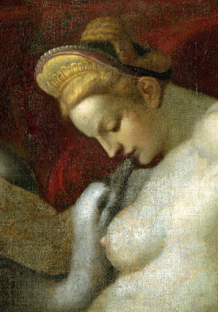 Anonymous artist - Leda and the Swan (after Michelangelo), detail. N.d., after 1530
