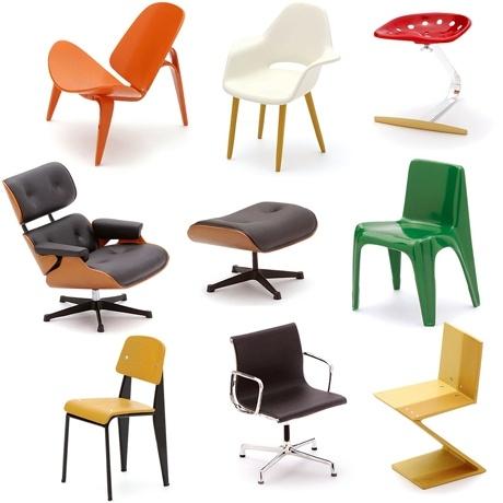 More miniature designer chairs. I crave them. by poketo.com #miniatures