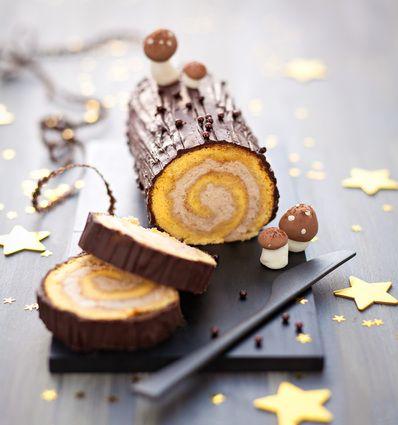 Bûche de Noël choco-marron : la recette facile