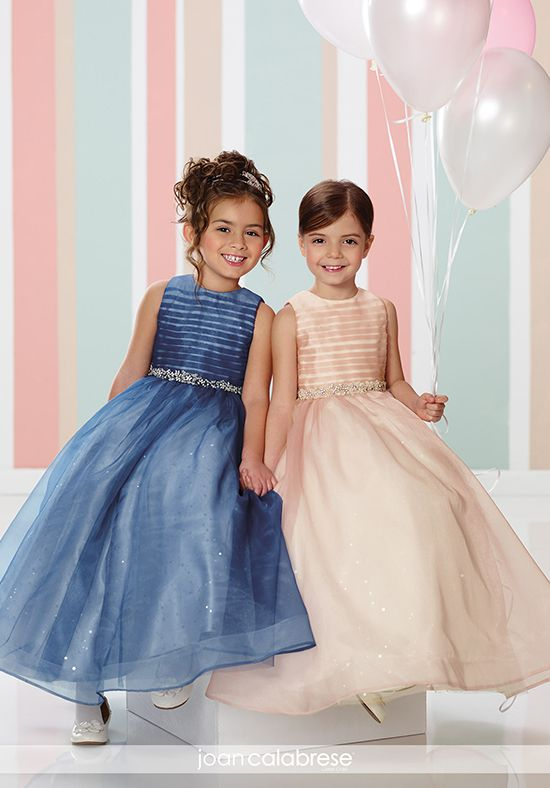 Joan Calabrese by Mon Cheri 216328 Blue Flower Girl Dress
