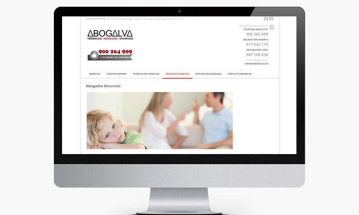 http://www.basicum.es/portfolio-item/diseno-web-abogados-abogalva/ Creación de páginas internas para web de abogados creado por Basicum.es