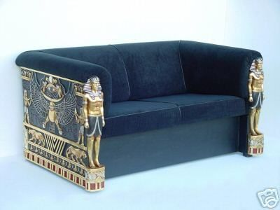 White Leather Sofa Art Deco King Tut Couch Deidra Brock Wallace