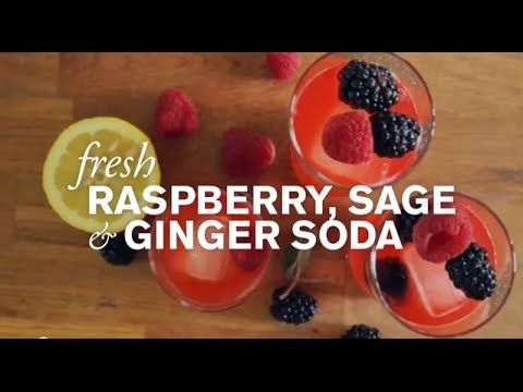 Fresh Raspberry, Sage & Ginger Soda--This healthy and refreshing homemade soda is a great alternative to the standard variety.