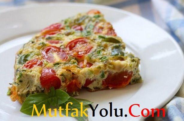 diyet sebzeli omlet