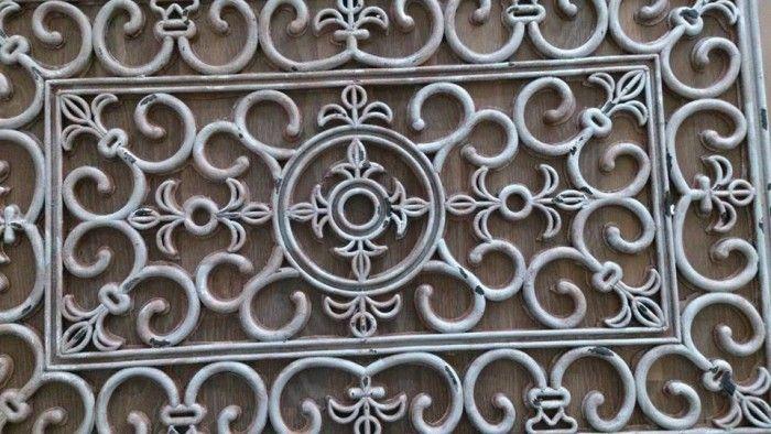 Rubberen deurmat met hobbyverf kwast en spons bewerkt leuke decoratie voor aan de muur of voor - Outdoor decoratie ideeen ...