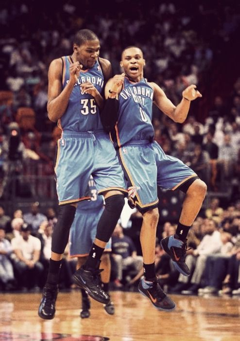 kevin durant kd russell westbrook okc thunder! Come back Westbrook!!!